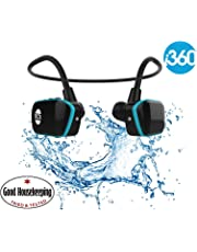 i360 Swimming MP3 Player Underwater Waterproof to 3 Meters - Wireless Earphones Headphones 8GB MP3 Player - listen to your Music Whilst Swimming/Running/Training/Gym Waterproof Sport MP3 Music Player