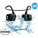 i360 Swimming MP3 Player Underwater Waterproof to 3 Meters - Wireless Earphones Headphones 8GB MP3 Player - Listen to your Music Whilst Swimming/Running/Training/Gym Waterproof Sport MP3 Music Player