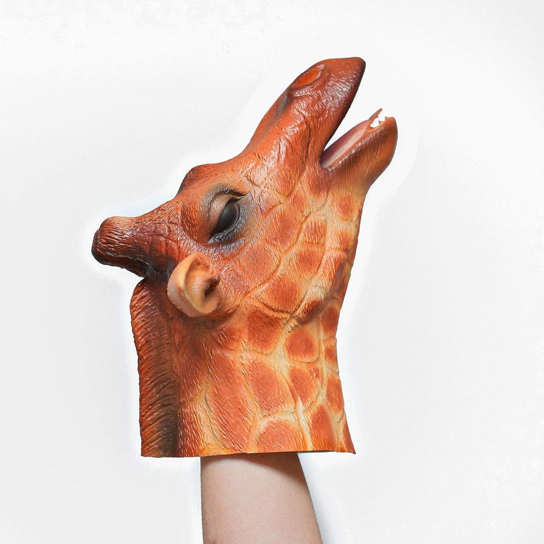 Yolococa Giraffe Hand Puppet Toys,Soft Rubber Realistic Giraffe Head,1 PCS
