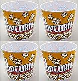 "Popcorn Serving Tub 7.5"" X 7.5""- Set of 4 Bowls"