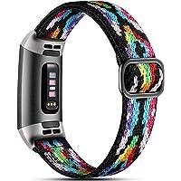 Dirrelo Elastyczny pasek kompatybilny z paskiem Fitbit Charge 3/paskiem Fitbit Charge 4, miękki regulowany elastyczny…