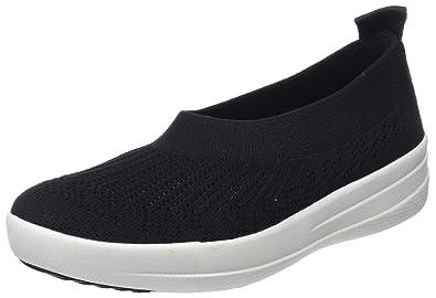 FitFlop Damen F-Sporty Uberknit Sneakers, Schwarz (Black 001), 36 EU