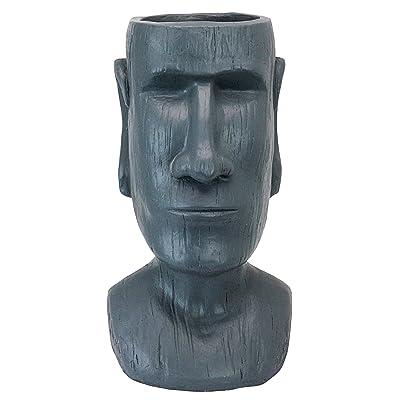 Design Toscano AL1917 Easter Island Massive Megalith Moai Head Planter Statue, Greystone : Garden & Outdoor