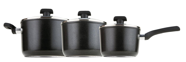 Prestige Duraforge Aluminium Saucepan, Black, Set of 3 Meyer Group Ltd. 20398ST
