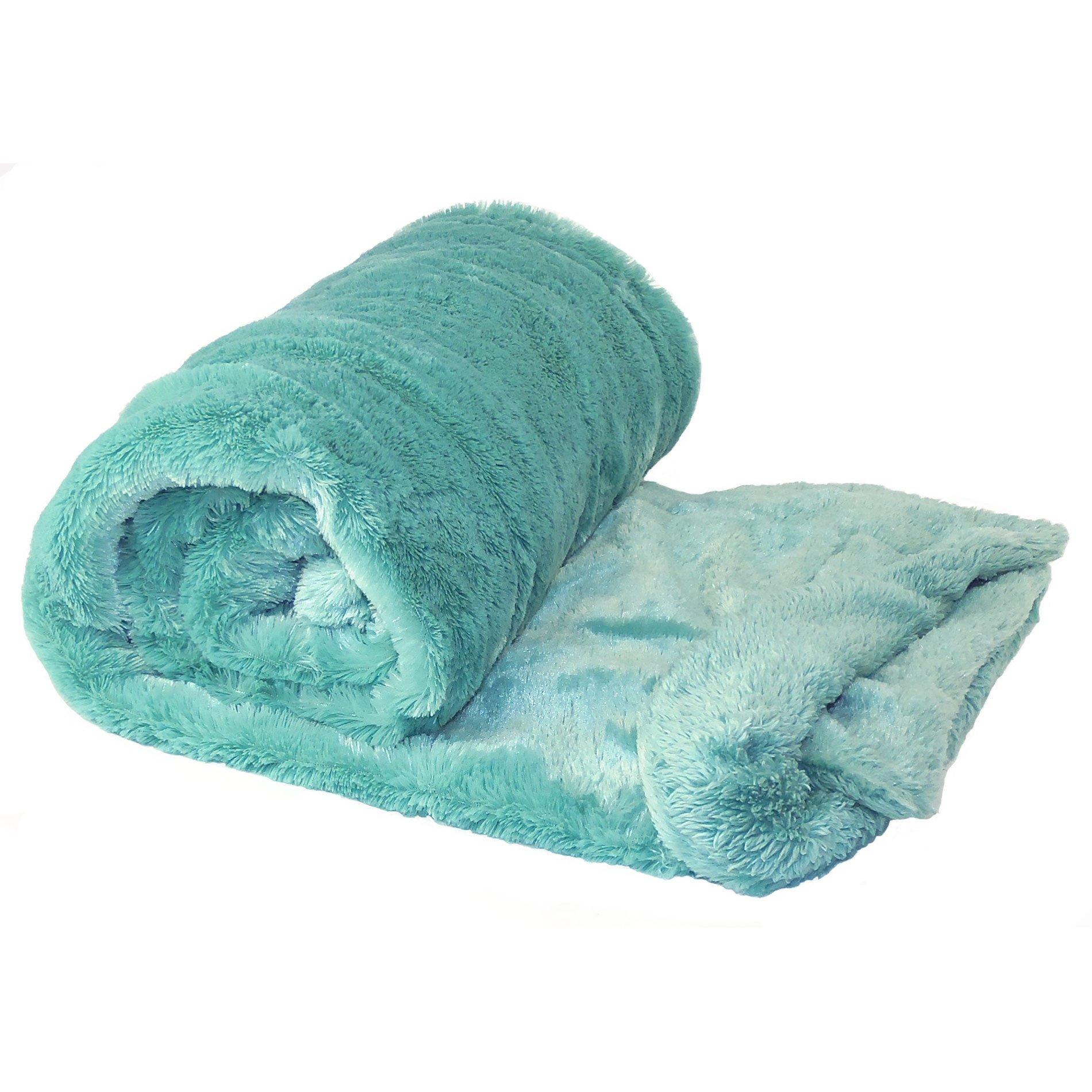 Home Soft Things Plain Faux Fur Throw Couch Cover Sofa