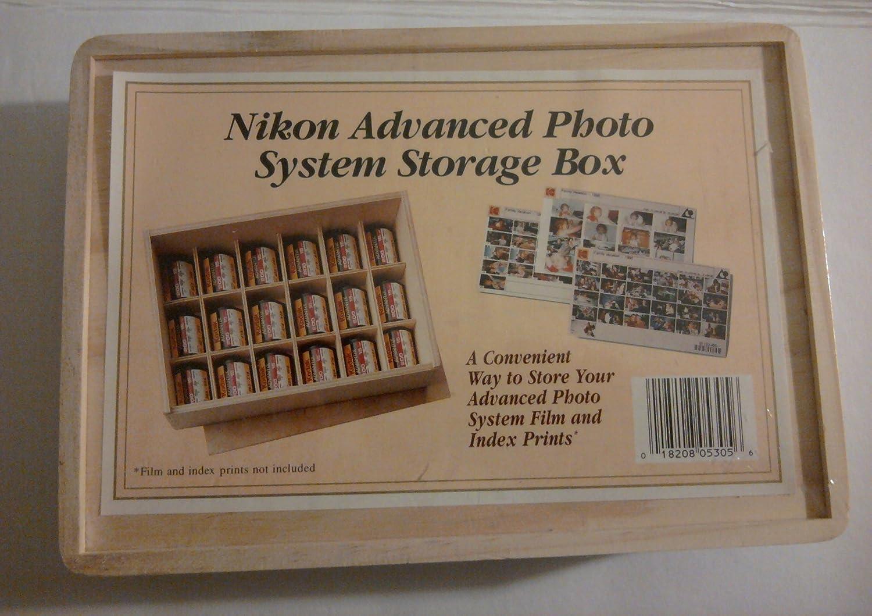 Wood Nikon Advanced Photo System Storage Box