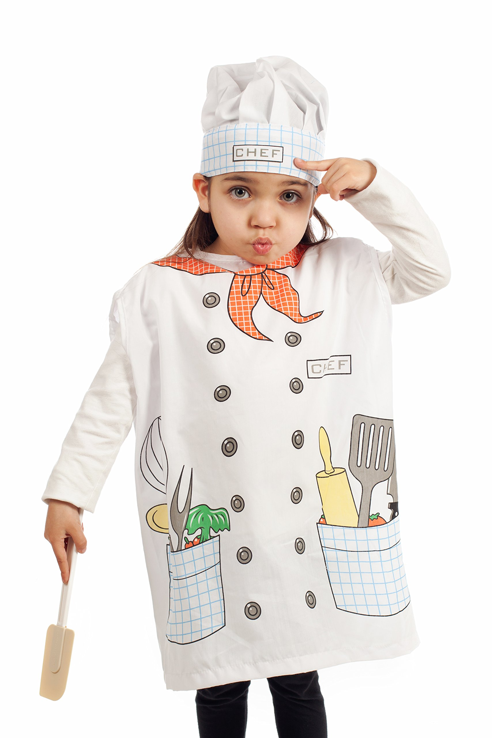 IQ Toys 6 Pieces Dress Up Costumes Fireman Gotham Cook Nurse Clown Witch by IQ Toys (Image #3)