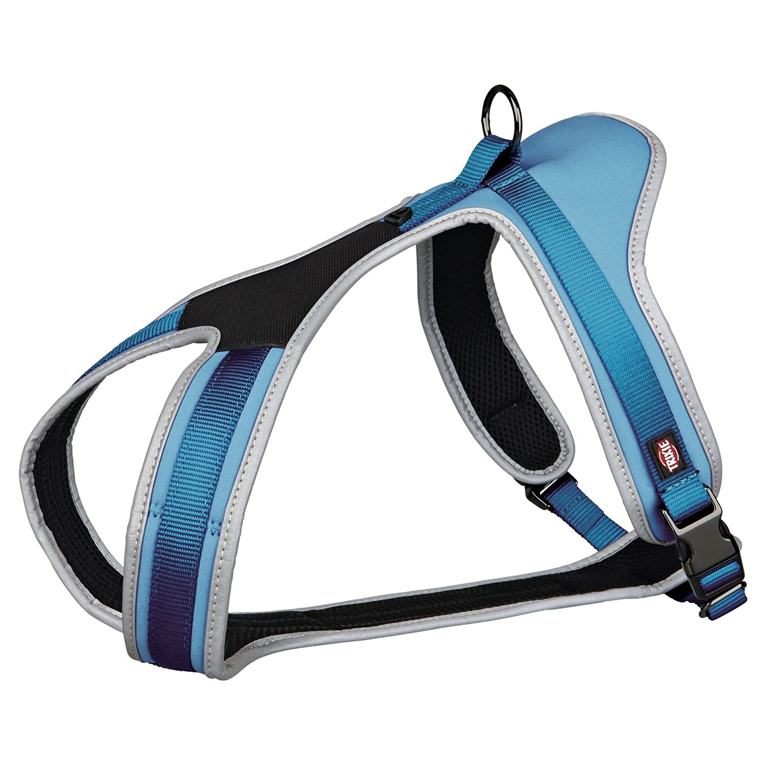 bluee S-M bluee S-M Trixie Experience Touring Dog Harness (M, Black)