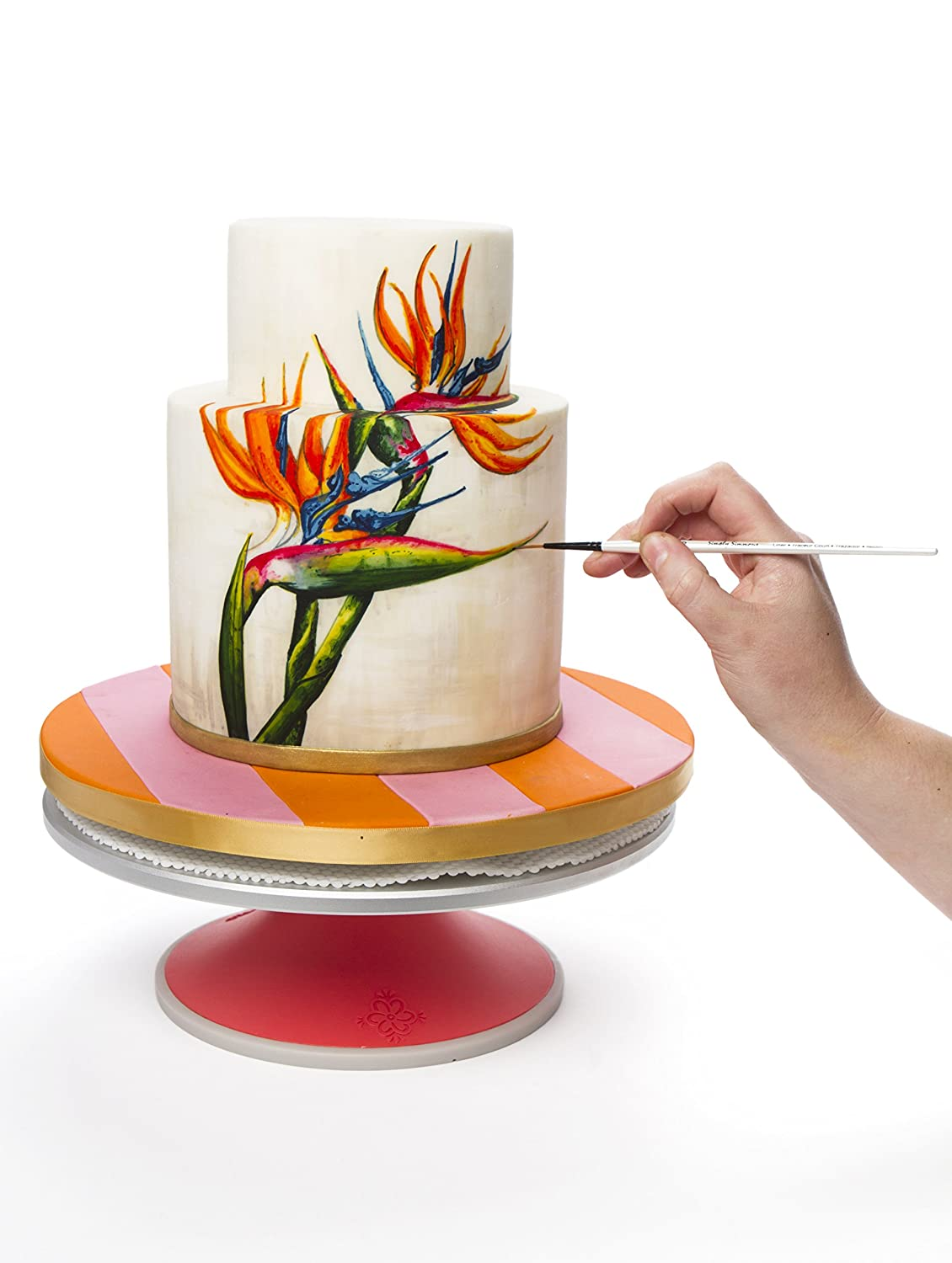 Innovative Sugarworks Artists Cake Turntable Rotating Cake Stand Cake Decorating Stand with Brake//Stop ISWTT00001