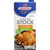 Swanson Unsalted Cooking Stock, Chicken, 32 Ounce (Pack of 12)