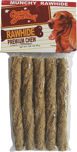 Munchy Dog Rawhide, 5PK TWISTS CHEW CHOY
