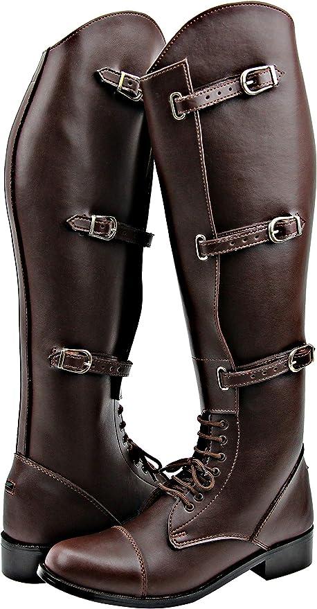 Amazon.com: Hispar Mens Man Crown Field Horse Riding Boots Stylish Fashion  Equestrian Brown: Sports & Outdoors