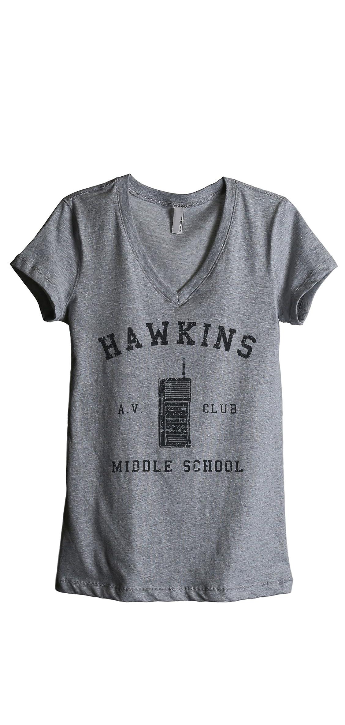 Hawkins Middle School Av Club Vintage  Stranger Inspired Tee