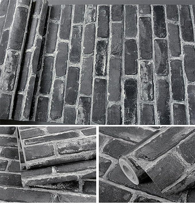 Viejo Brick Rústico Roll Vinilo Faux 3d Wallpaper Vintage Patrón n8P0wXOk