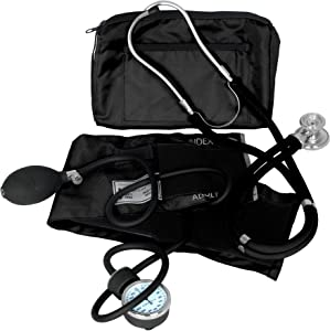 Dixie Ems Blood Pressure and Sprague Stethoscope Kit (BLACK)