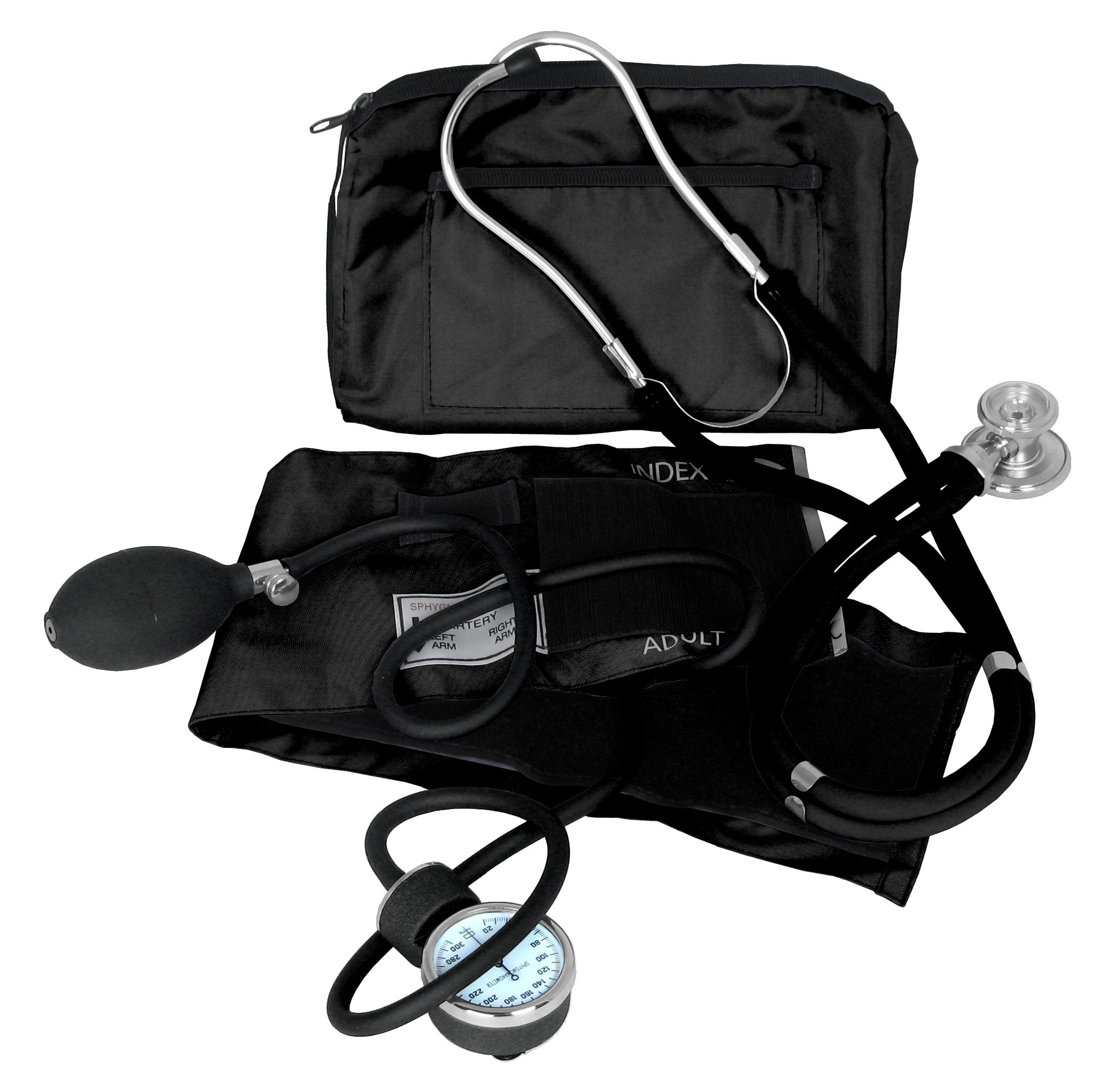 Dixie EMS Blood Pressure and Sprague Stethoscope Kit, Black