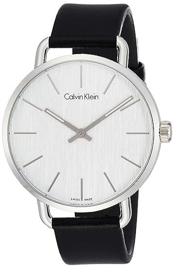 Calvin Klein Reloj Analogico para Mujer de Cuarzo con Correa en Cuero K7B211C6: Amazon.es: Relojes