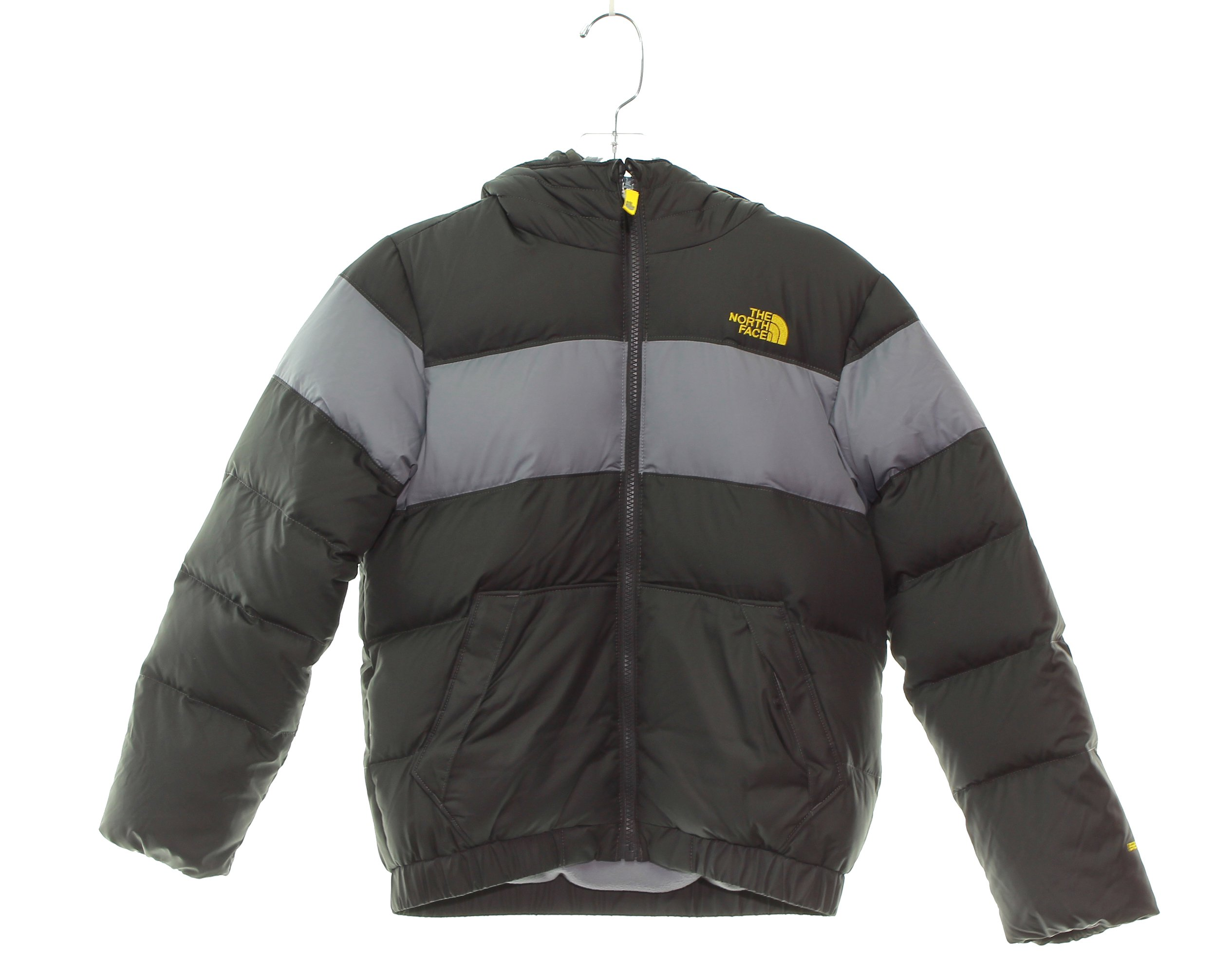 Boy's The North Face Moondoggy 2.0 Down Jacket Size 10/12 Medium Graphite Grey