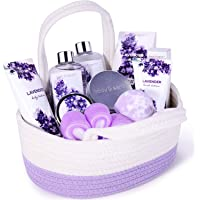 Womens Spa Gift Basket, Body & Earth Gifts for Women, 10-Piece Bath Gift Sets Scented with Lavender, Contains Shower Gel…