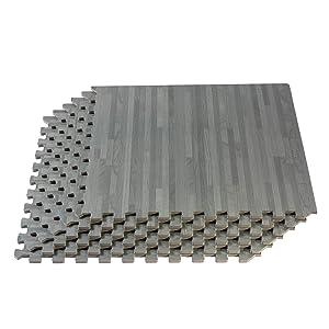 Forest Floor Thick Printed Wood Grain Interlocking Foam Floor Mats