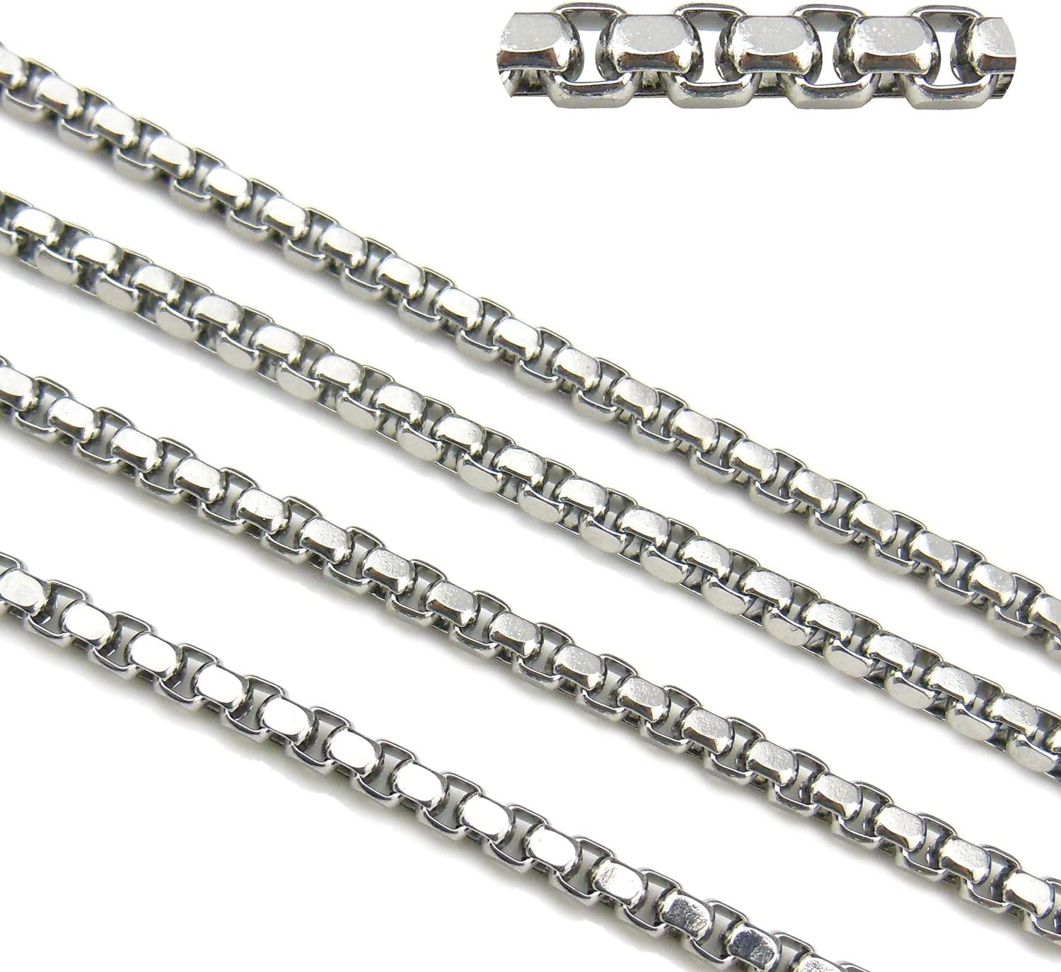 wholesale 50meter Wide 6mm Braid Chain Stainless Steel jewelry findings Chain
