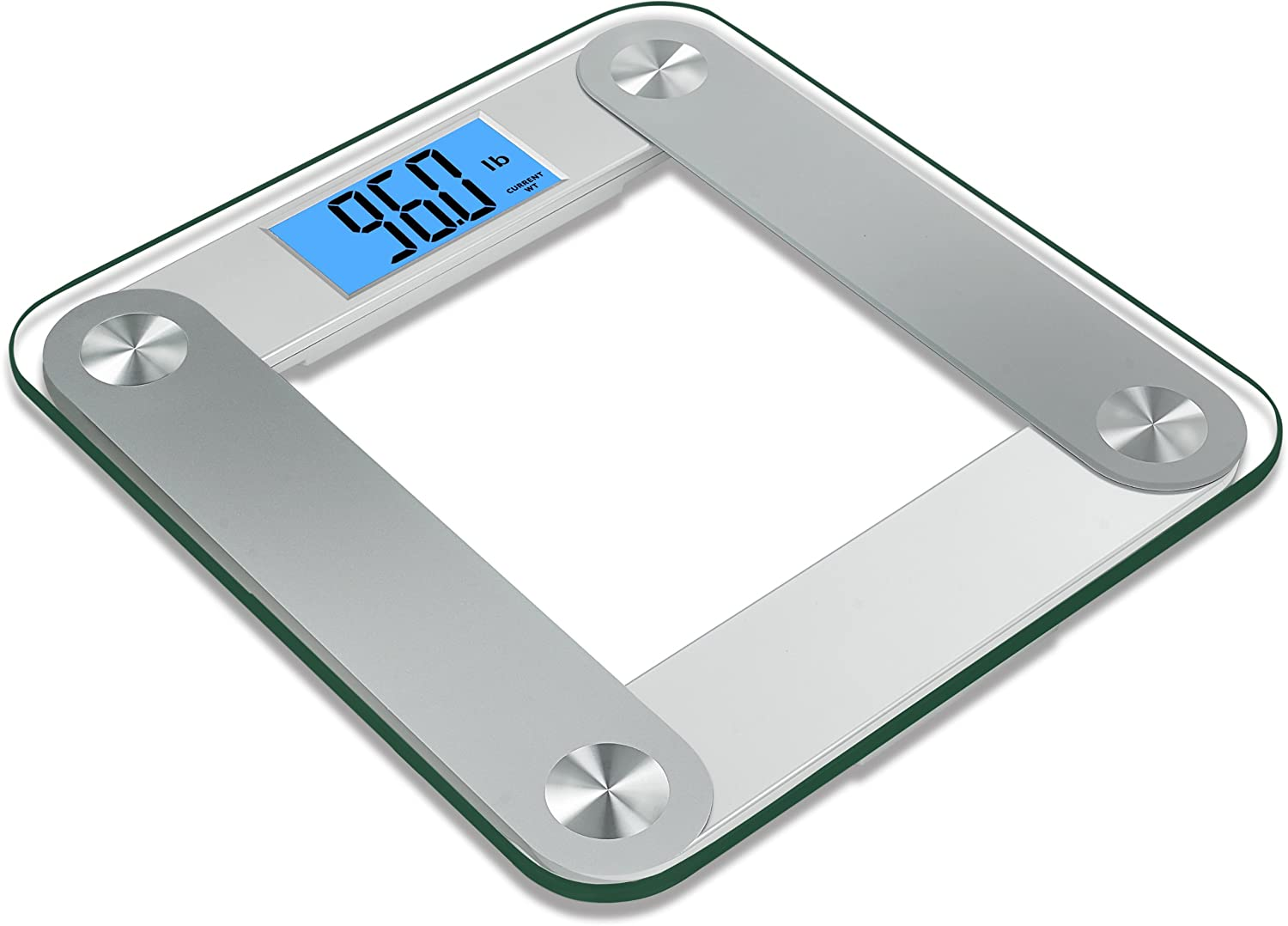Amazon.com: BalanceFrom High Accuracy Plus Digital Bathroom Scale With 3.6  Inch Large Dual Color Backlight Display And Smart Step On Technology, ...