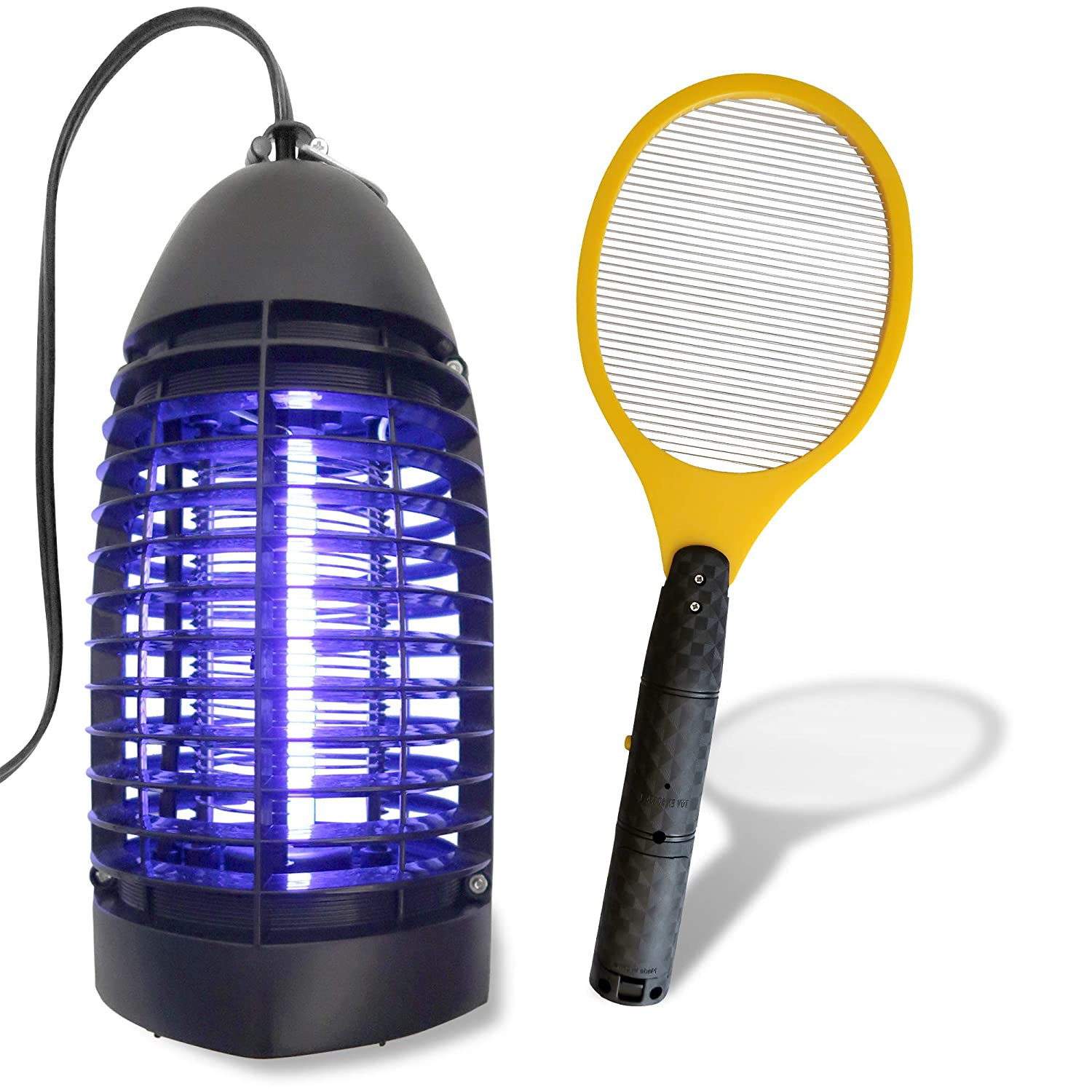 SBL Home Bug Zapper Indoor Lamp, Trap, Catcher Bundled with Electric Mosquito Swatter, Racket, Racquet