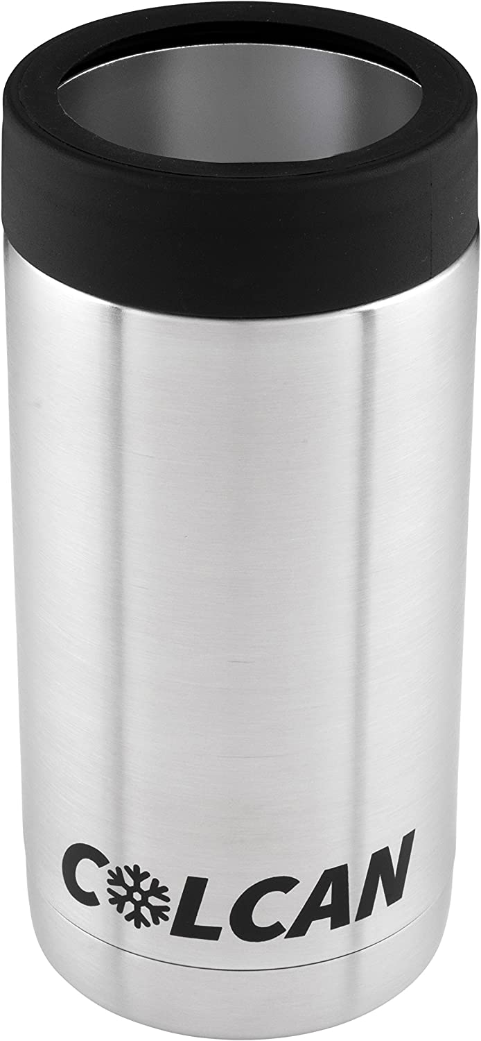 Colcan Stainless Steel Double Insulated Can Cooler - 16oz - Tallboy Pounder Cans