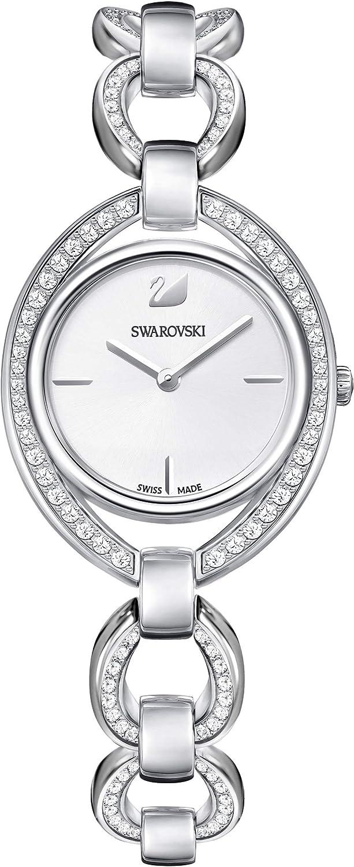 Swarovski Reloj Stella, Brazalete de metal, blanco, acero inoxidable