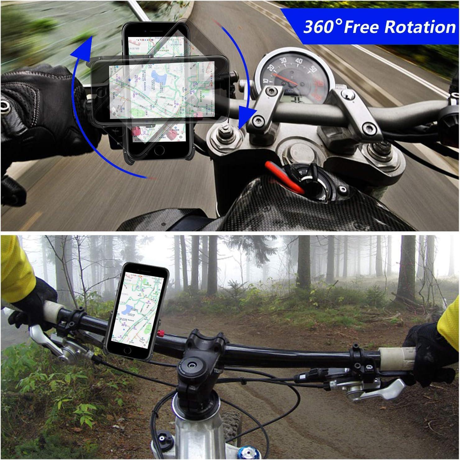 ENONEO Soporte Movil Bicicleta 360 Rotación Soporte Telefono Moto ...