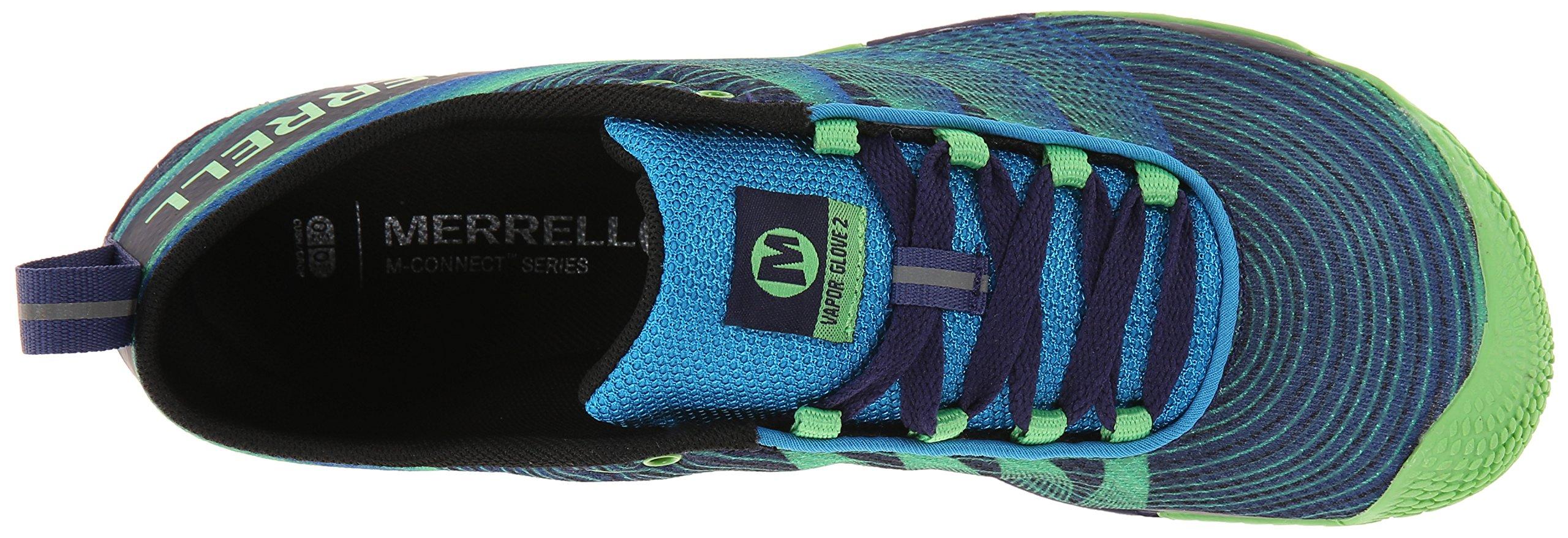 Merrell Men's Vapor Glove 2 Trail Running Shoe, Racer Blue/Bright Green, 9.5 M US by Merrell (Image #8)