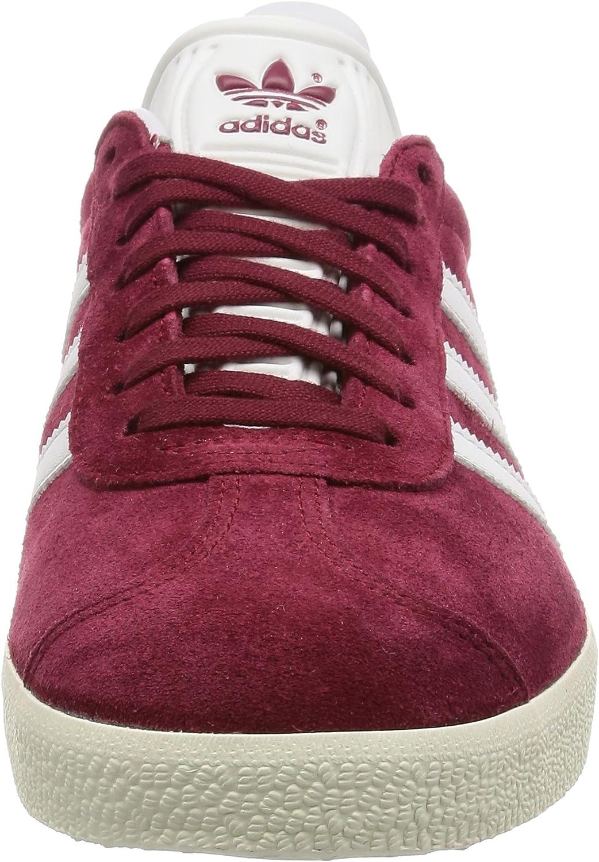 adidas Herren Gazelle Sneaker, grau Collegiate Burgundy/White/Gold Metallic