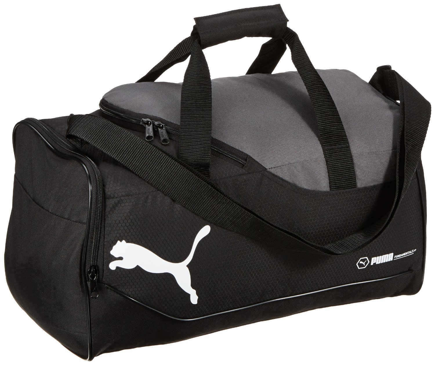 Buy Puma fundamental sports bag (07196301) Small Black-Dark Shadow-White  Online at Low Prices in India - Amazon.in 881db45668b15