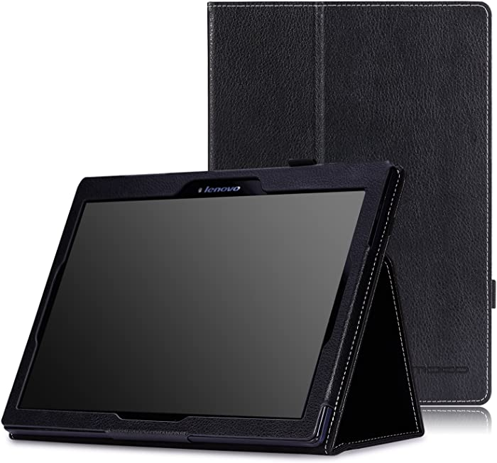"MoKo Lenovo Tab2 A10-70 Case - Slim Folding Stand Cover Smart Case for Lenovo Tab 2 A10-70, Tab 10(TB-X103F) 10.1"" Tablet, Black"