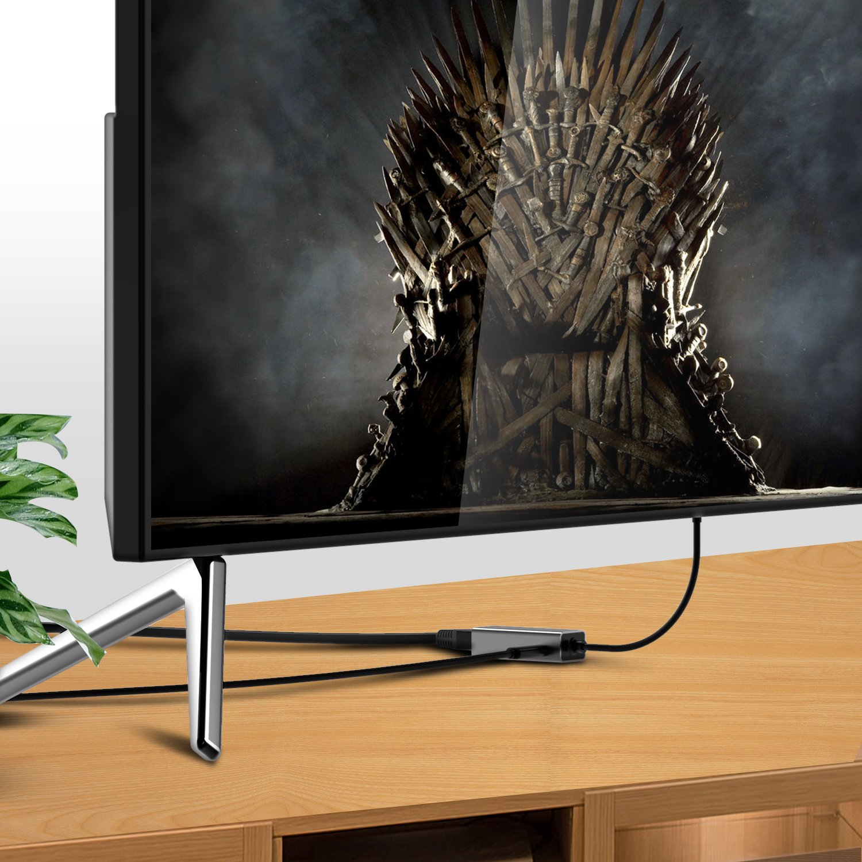 Basstop Ethernet Adapter for TV Sticks, Amazon Fire TV Device, Chromecast Ultra / 2 / 1 / Audio, Google Home Mini, Raspbbery Pi Zero, Micro USB to RJ45 Ethernet Adapter(Gray) by BASSTOP (Image #7)