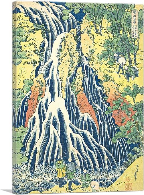 Amazon Com Artcanvas Pilgrims At Kirifuri Waterfall On Mount Kurokami In Shimotsuke 1831 Canvas Art Print By Katsushika Hokusai 18 X 12 0 75 Deep Posters Prints