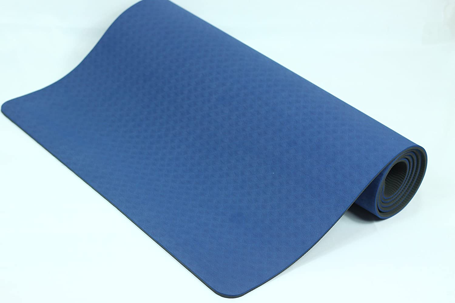 Dharmat TPE YOGA MAT – eco riendly yoga mat double layerd 6 mm 72 X 24 anti slip, light and easy to carry, 100 latex and PVC free