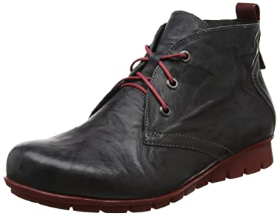 Menscha, Desert Boots Femme, Rouge (Rosso/Kombi 72), 42 EUThink