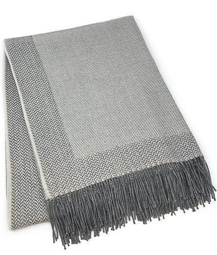 582864e939 Amazon.com  Incredibly Soft 100% Baby Alpaca Wool Sofa Throw Blanket ...
