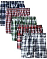 Boxer Men's Sports Cotton Shorts Pack of 5 (Free Size, Multicolour)