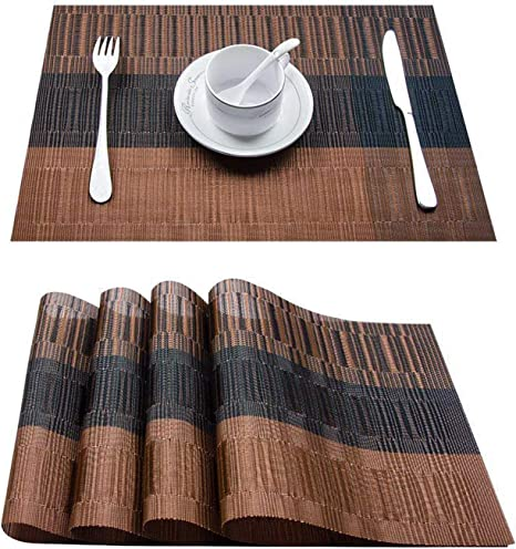 1pcs PVC Place Mats Coasters Dining Table Placemats Non-Slip Washable Table Mats