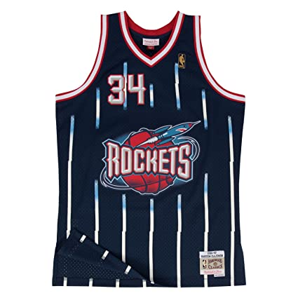 bd2be2cff11e Hakeem Olajuwon Houston Rockets Mitchell and Ness Men s Navy Throwback  Jesey 4X-Large