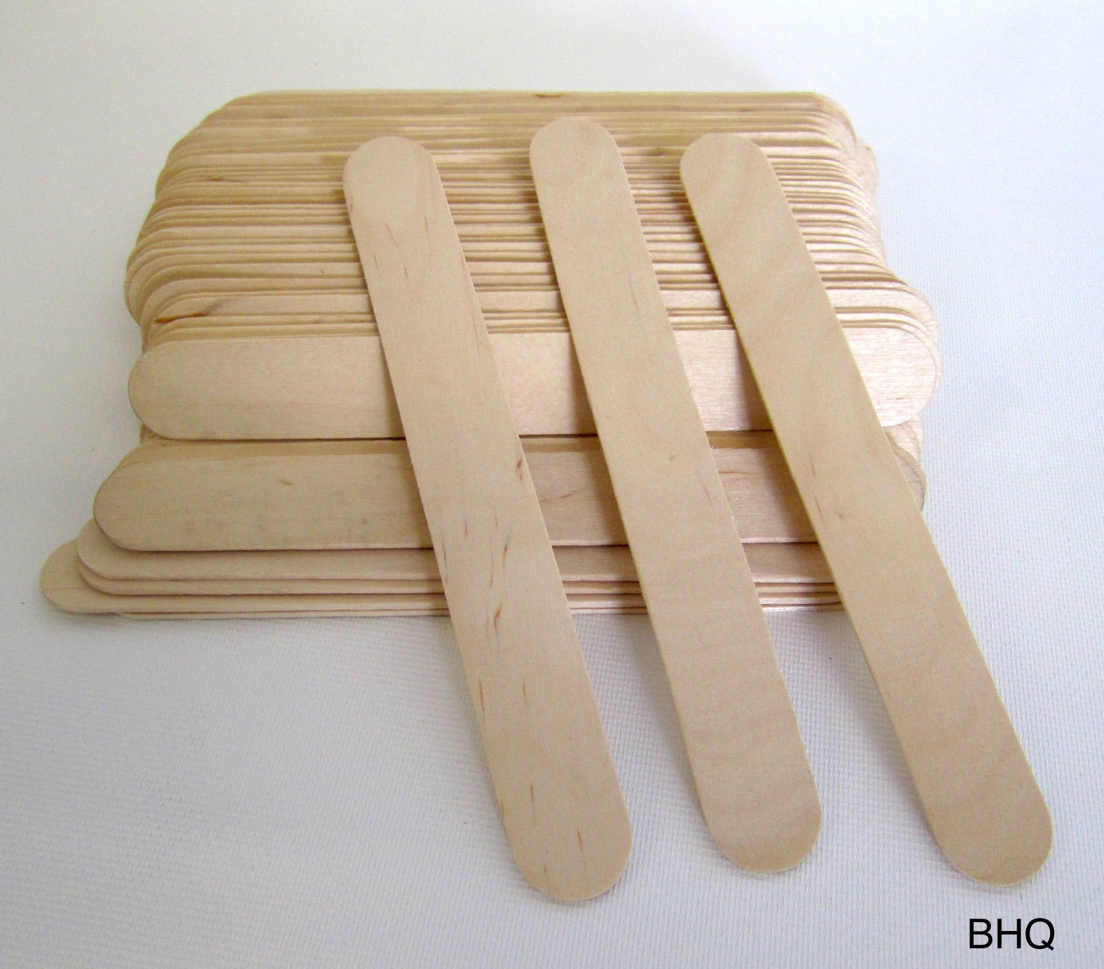 LARGE Wide Wood Wax Spatulas Applicator 6'' x 3/4'' (500 pieces)