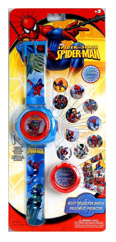Spiderman. Uhr mit Projektor, Kinderuhr, Multi-Projektor-Uhr ...