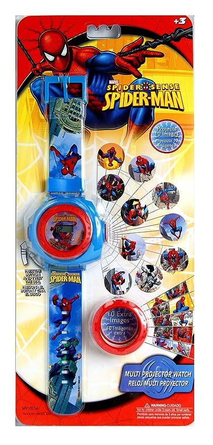 Spiderman. Reloj proyector, reloj para niños, reloj con múltiples ...