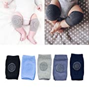 IUME Baby Crawling Anti Slip Knee Pads Unisex Clothing Accessories Toddler Leg Warmer Safety Protective Cover Toddlers Learn to Socks Children Short Kneepads 5 Pairs