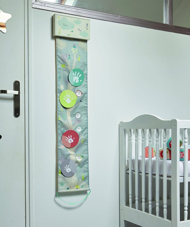 inkl Baby Art One to Tree Stoffmesslatte f/ür Kinder mit Handabdruckset und Stickern Aufbewahrungsbox mehrfarbig
