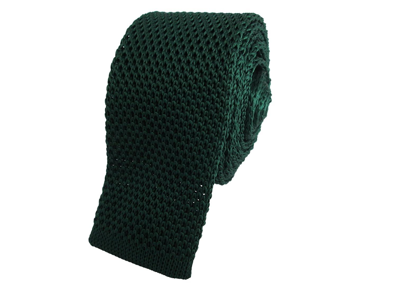 Oliver Bainbridge Verde oscuro skinny de punto corbata: Amazon.es ...
