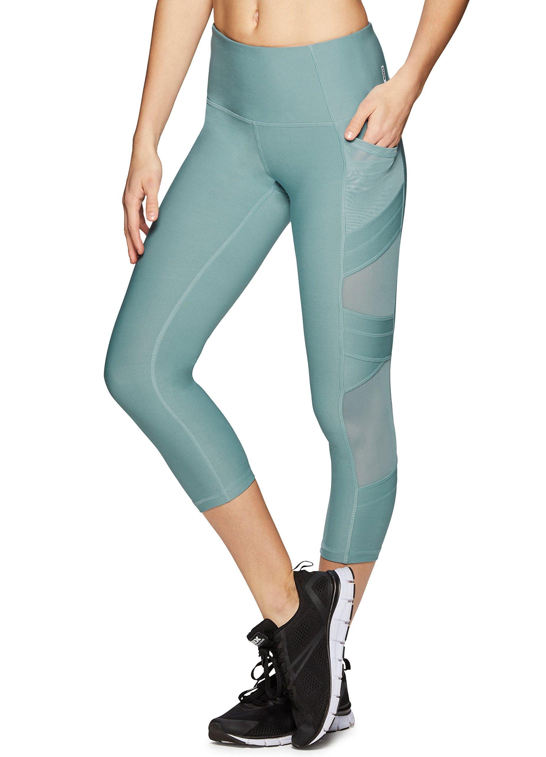 567aecc3c7b9d Galleon - RBX Active Women's Mesh Pilates Fashion Workout Yoga Leggings  Green XL