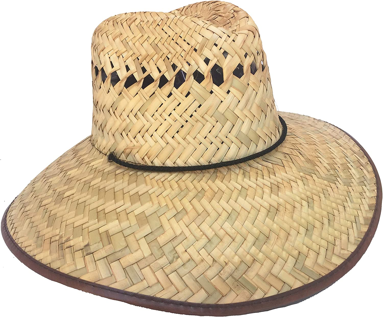 Headchange Wide Brim Lifeguard Hat Mexican Straw Beach Sun Summer Surf Safari
